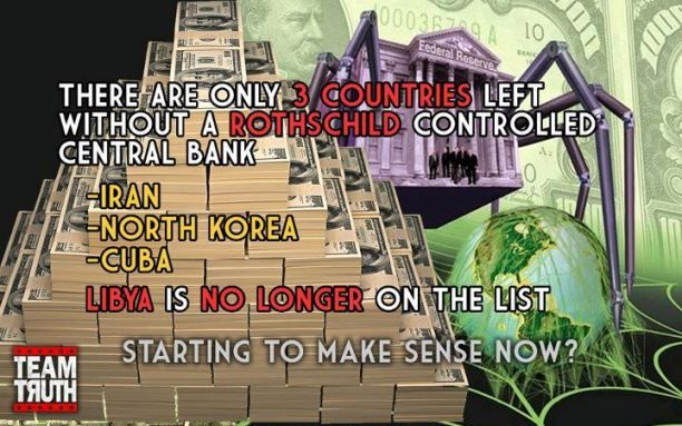 Only 3 Countries Left Without A Rothschild Controlled Central Bank