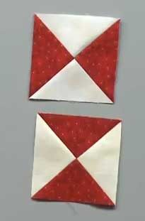 Tuesday Tutorial: Quick Quarter Square Triangles (QSTs) Learn how to start with two squares and end up with two hourglass blocks in this FREE MQU (McCall's Quilting University) video lesson.