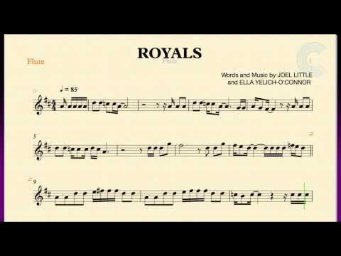 Royals - Lorde - Flute Sheet Music, Chords, and Vocals ... | 480 x 360 jpeg 15kB