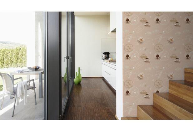 23 best Tapeten / Tapetenideen- BRAUN images on Pinterest Bedroom - retro tapete wohnzimmer