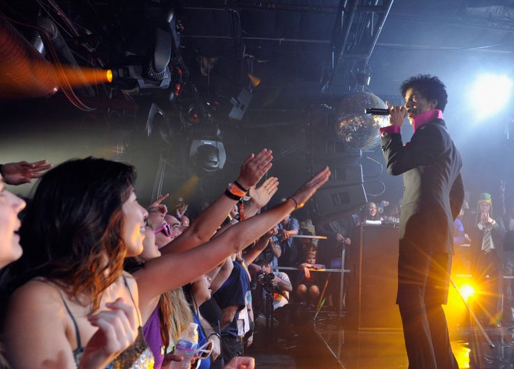 AUSTIN, TX - MARCH 16:  Prince performs as Samsung Galaxy presents Prince and A Tribe Called Quest at SXSW on March 16, 2013 in Austin, Texas.  (Photo by John Sciulli/Getty Images for Samsung)