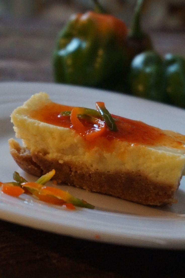 Cheesecake con mermelada de aji margariteño
