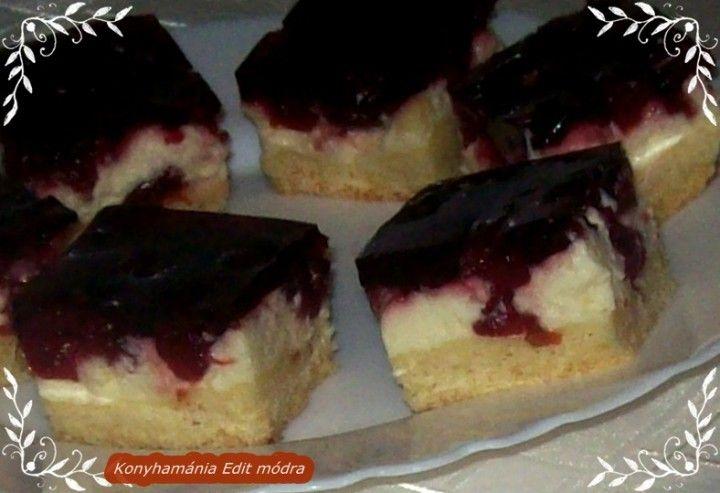 Pudingos meggyes tejfölös sütemény recept | Receptneked.hu ( Korábban olcso-receptek.hu)