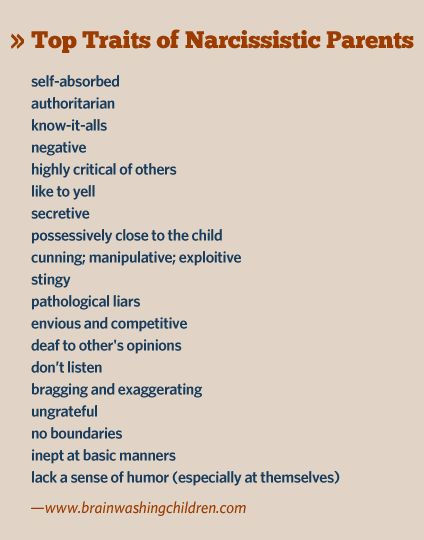 Narcissistic mother, narcissistic father – here are their traits   Brainwashing Children