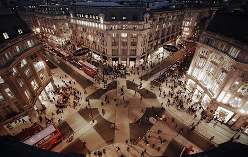 Oxford Circus Station and into the streets of busy London