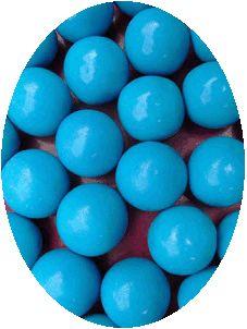 Kauwgombal blauw