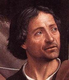 Domenico Ghirlandaio - Ντομένικο Γκιρλαντάιο Αυτοπροσωπογραφία-Λεπτομέρεια στον πίνακα