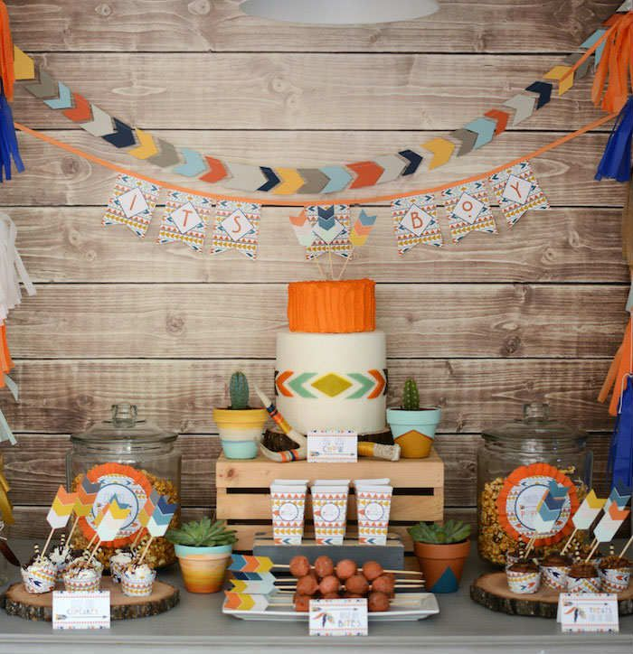 Tribal Little Brave Man by Karas Party Ideas | 10 Kids Party Settings - Tinyme Blog