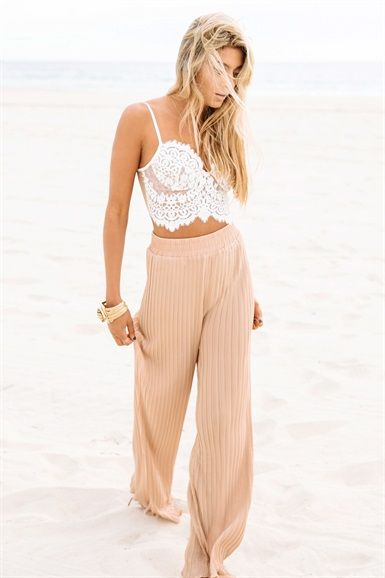 Camel Pleat Pants | SABO SKIRT