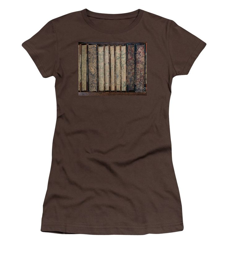 Books Women's T-Shirt (Junior Cut) featuring the photograph Old Books by Sverre Andreas Fekjan
