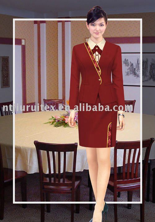 Hotel receptionist uniform 11 16 uniforms pinterest for Uniform for spa receptionist