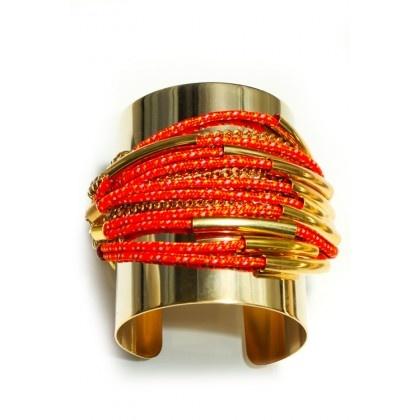 So cool!  Charm & Chain | Orange Devil's Tower Cuff www.charmandchain.com