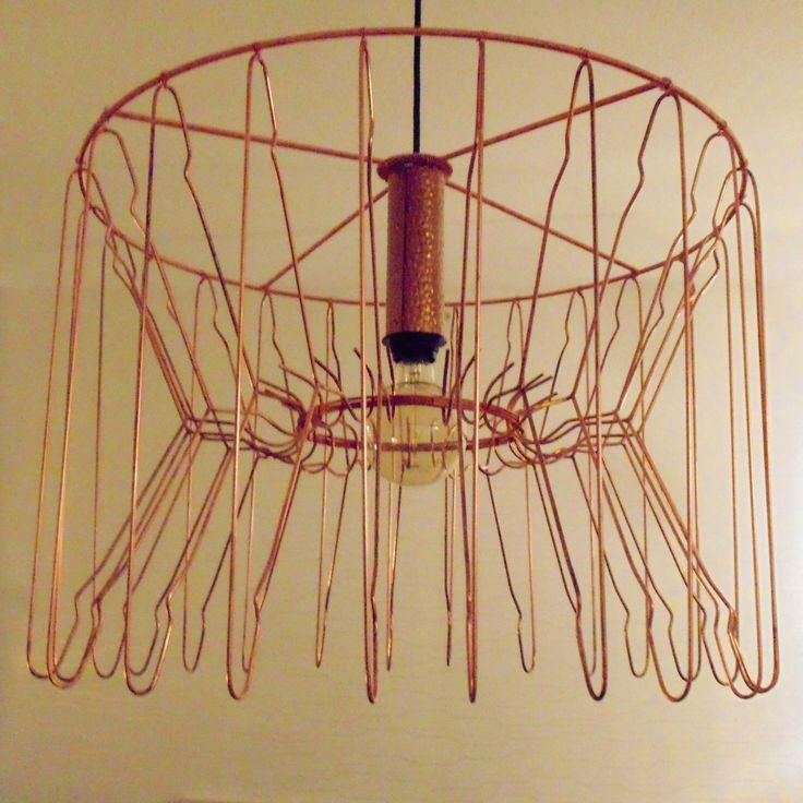 Lampa gjord av galgar
