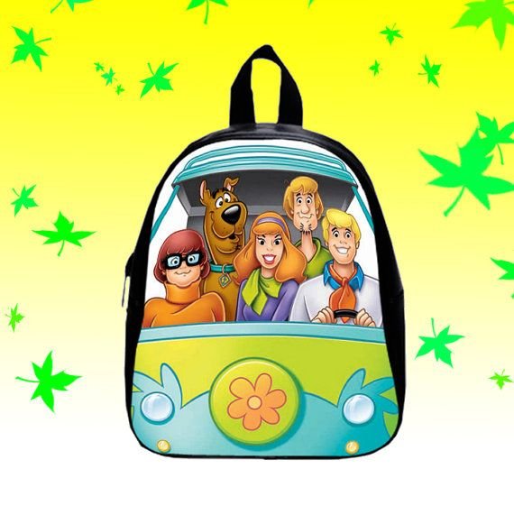Scooby Doo On Car   Backpack/SchoolBags for Kids. by FACIALBAG