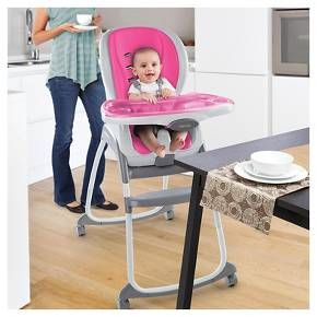 Ingenuity's™ Trio 3-in-1 SmartClean High Chair™ is every chair baby will ever need because it's three chairs in one! Three modes of use include a full-size high chair, booster seat, and toddler chair. The soft foam seat pad adds extra comfort for baby, wipes clean instantly, and is even dishwasher safe! The EasyClean™ tray removes with one hand, is dishwasher-safe, and features four locking positions to grow with baby. The high chair and booster seat inclu...
