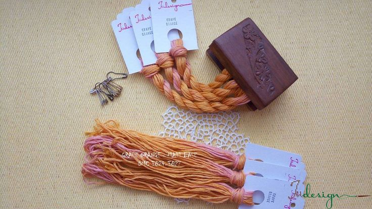 Hand painted matt cotton floss GRAPE ORANGE hand dyed thread for embroidery, cross stitch, punto cruz, point de croix, blackwork by xJudesign on Etsy