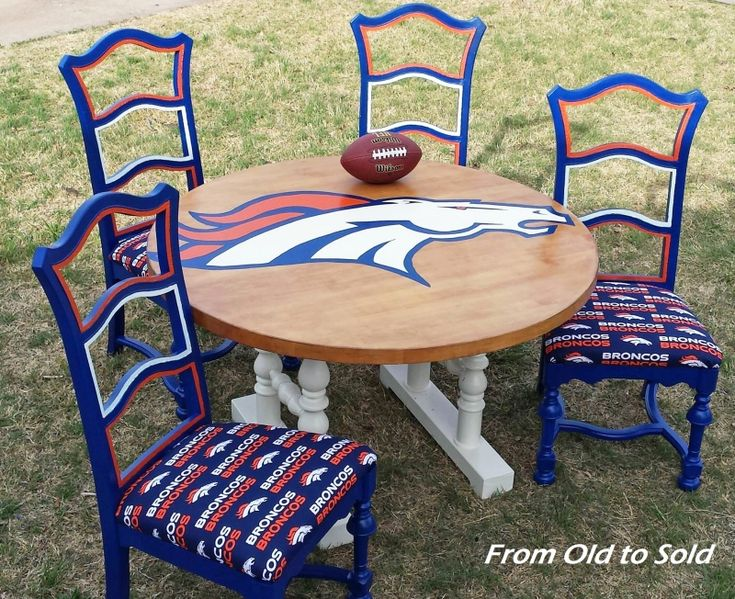 Denver Broncos Game Table with GF Milk Paint | General Finishes Design Center