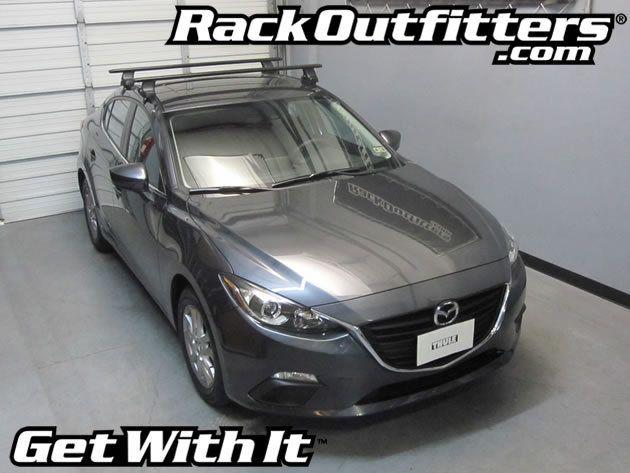 Mazda Mazda3 Thule Rapid Traverse BLACK AeroBlade Roof Rack U002714 U002716