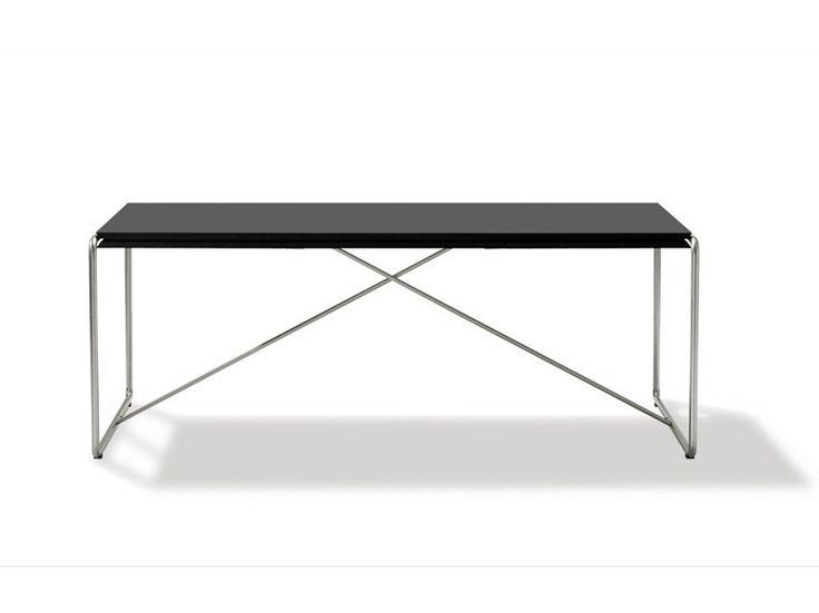 ausziehbarer rechteckiger tisch haugesen by fredericia furniture design niels jrgen haugesen - Erweiterbar Runden Podest Esstisch