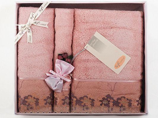 Darčekový set froté uterákov a osušiek LALEZAR v darčekovom balení, charakteristické svojou jemnosťou, absorpciou, výraznou výšivkou