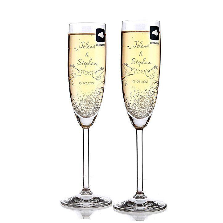 Leonardo 2 Sektglaser Zur Hochzeit Mit Gratis Gravur Des Namens Und Datums Hochzeitsge Sektglaser Hochzeit Sektglaser Mit Gravur Personliches Hochzeitsgeschenk
