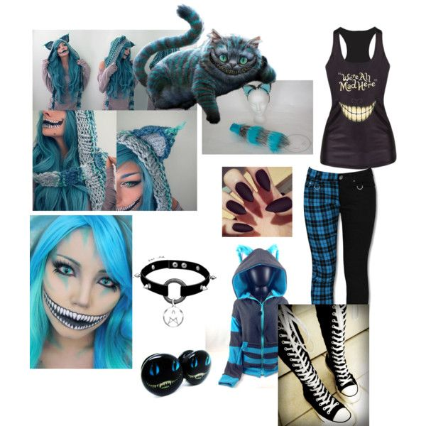 cheshire cat costume by mattie howard on polyvore featuring polyvore fashion style and - Cat Outfit For Halloween