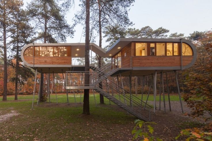 The Tree House by Baumraum in forests of Hechtel-Eksel in Belgium