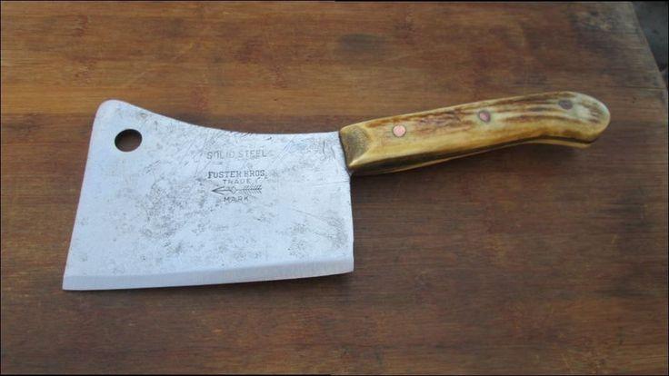 ШТРАФА антикварная Фостер Bros шеф-повара мясо Колун w/Custom Stag ручки - бритвы острый | Предметы для коллекций, Кухня и дом, Кухонные принадлежности | eBay!