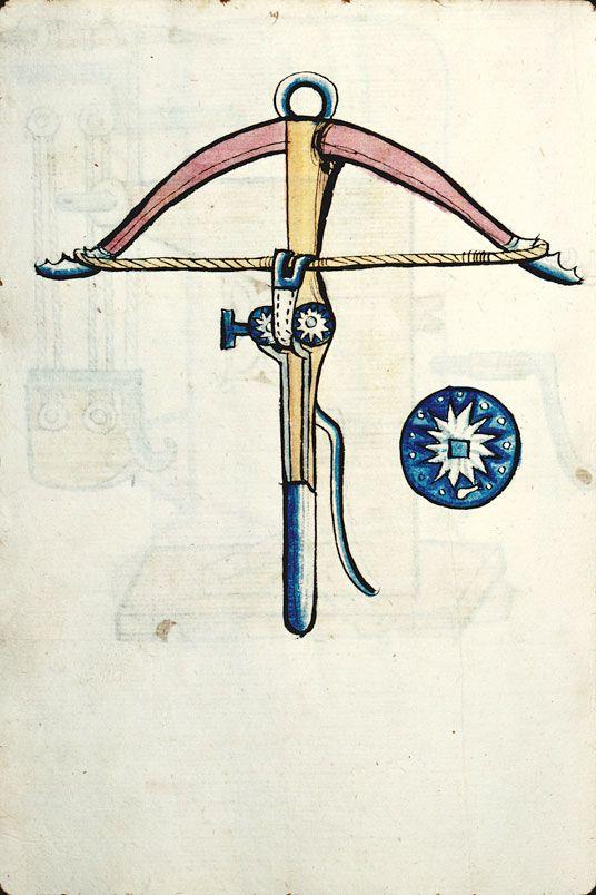 Besançon, Bibl. mun., ms. 1360, f. 080v –  Arbalète