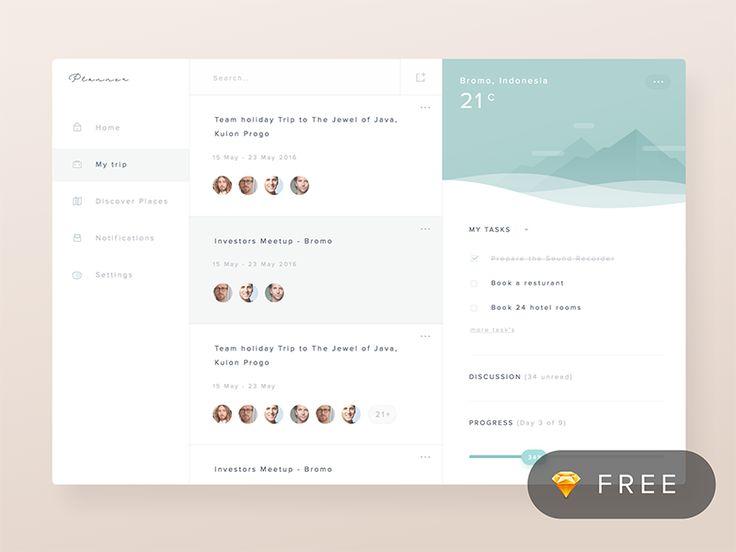 Planner App Concept by Ghani Pradita
