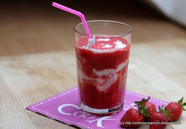 Erdbeer-Melonen-Smoothie