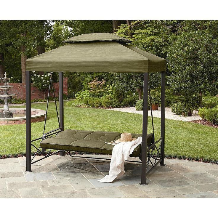 Daybed Outdoor 3 Person Gazebo Swing Lawn Garden Patio Canopy Porch Grover