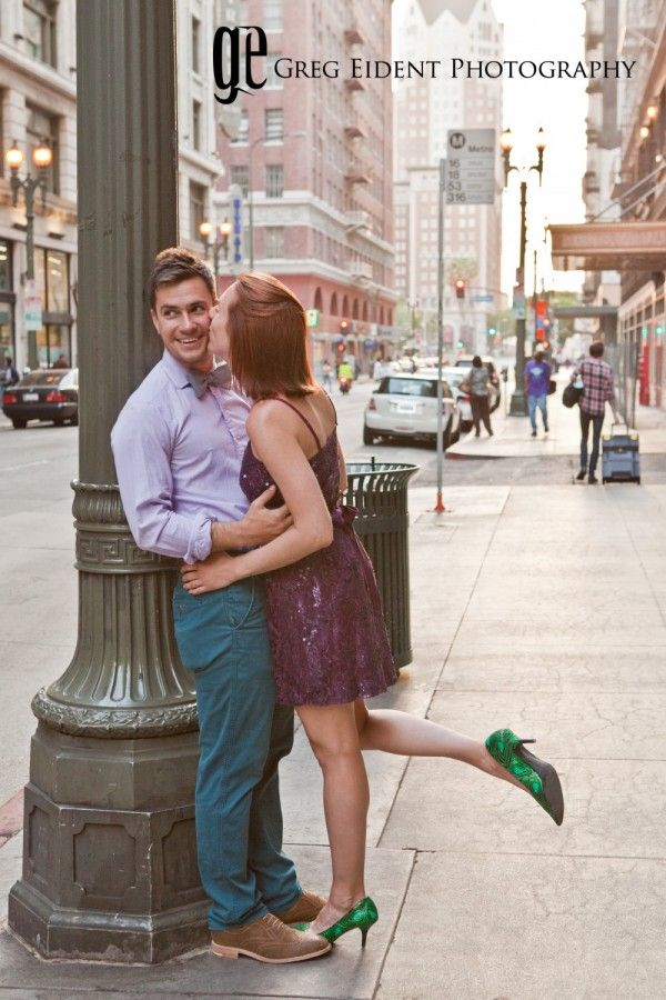 engagement photo shoot of Mary and Collin shot by Greg Eident Photography somewhere in downtown los angeles - visit the blog for more photos http://www.meadowsevents.net/engagement-photo-shoot-in-the-heart-of-la/