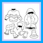 Winter Clothes Coloring Sheet and Winter Song For Kids!