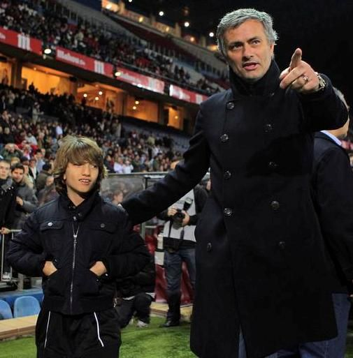 José Mourinho and his son
