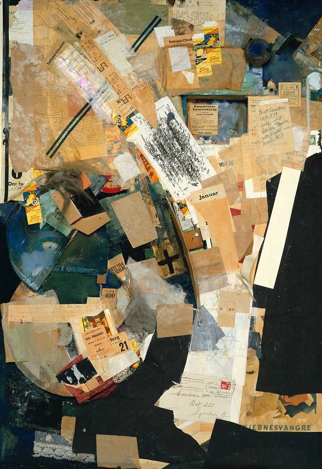 leon-lucas: Kurt Schwitters - Picture of Spatial Growths - Picture with Two Small Dogs, 1920-39