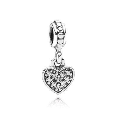 pave heart pendant charm £35