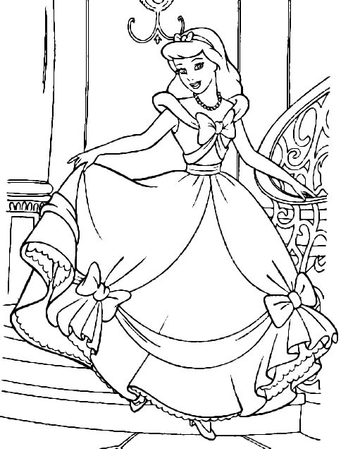 cinderella coloring pages for kids - photo#20