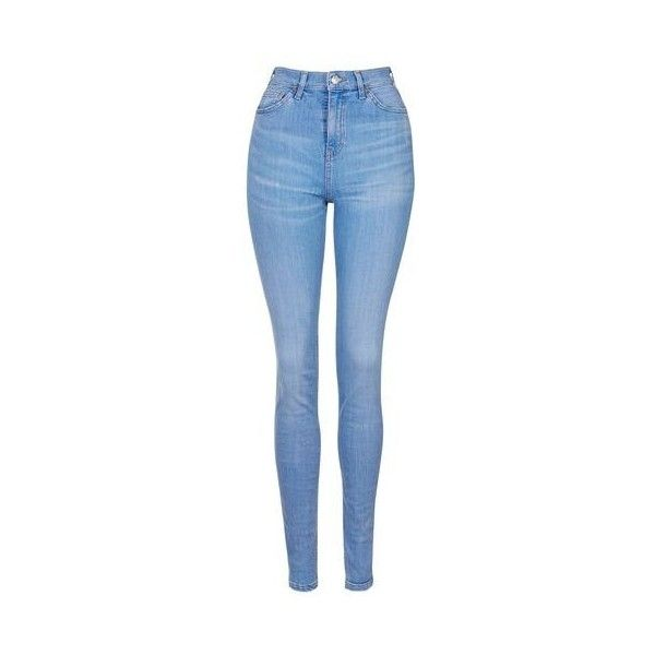 TopShop Tall Bright Blue Jamie Jeans ($52) ❤ liked on Polyvore featuring jeans, bright blue, high-waisted skinny jeans, bright blue jeans, topshop jeans, button fly jeans and bright blue skinny jeans