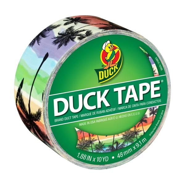 Printed Duck® brand duct tape - Sunset Strip http://duckbrand.com/products/duck-tape/prints/standard-rolls/sunset-strip-188-in-x-10-yd?utm_campaign=color-duck-tape-general&utm_medium=social&utm_source=pinterest.com&utm_content=printed-duct-tape