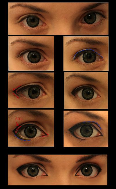 """kitkatkatydidcosplay: """" Cosplay-Make up [For male characters] by ~JackyChip And eye makeup for male characters! Whoo! Because I found out the hard way if you don't but a crap ton of makeup on your eyes, then it will look like no makeup on your eyes...."""