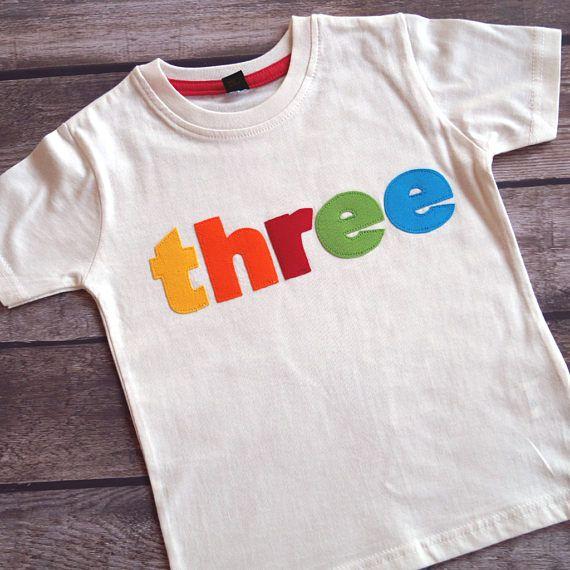 Geburtstagsshirt three T-Shirt zum Geburtstag
