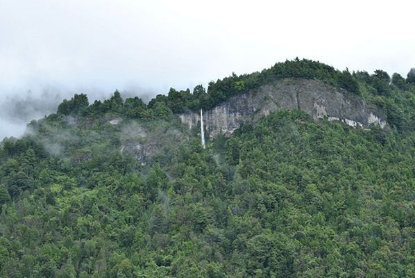 Cascada en Coñaripe