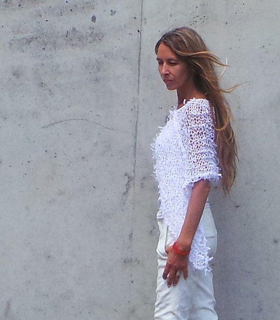 white Poncho / white Ribbon Wedding Poncho. by ileaiye on Etsy, $60.00