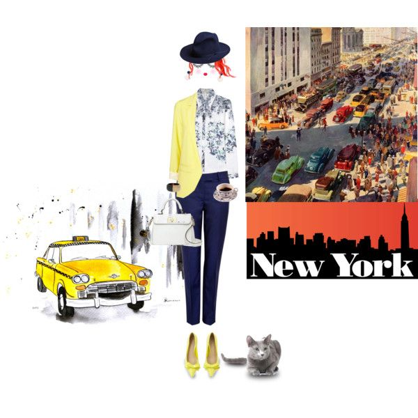 NY by drusilla90 on Polyvore featuring moda, Erdem, McQ by Alexander McQueen, Carvela, Kate Spade, Marni, Unused, Paperself, TAXI and Trilogy
