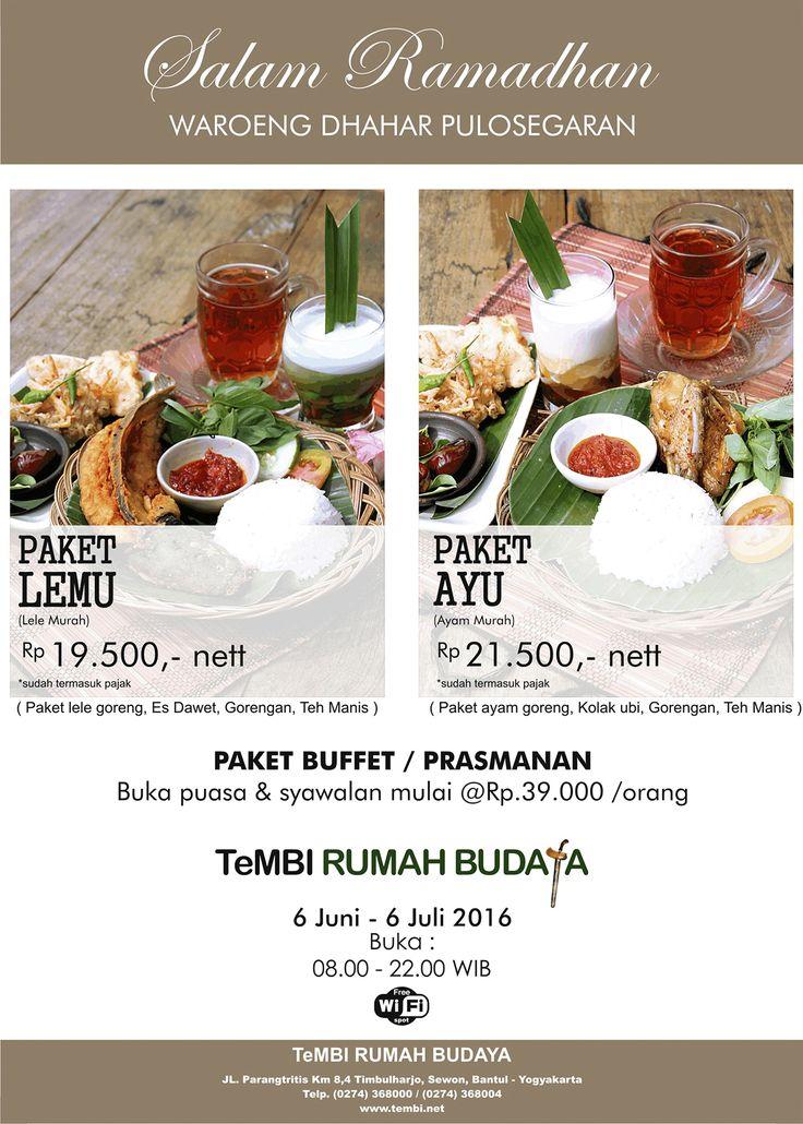 """Only At """"Waroeng Dhahar Pulosegaran"""" Tembi Rumah Budaya"""