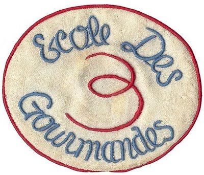 Thinking of dressing as Julia Child for this party - here's the badge she and her students wear in the cookery classes