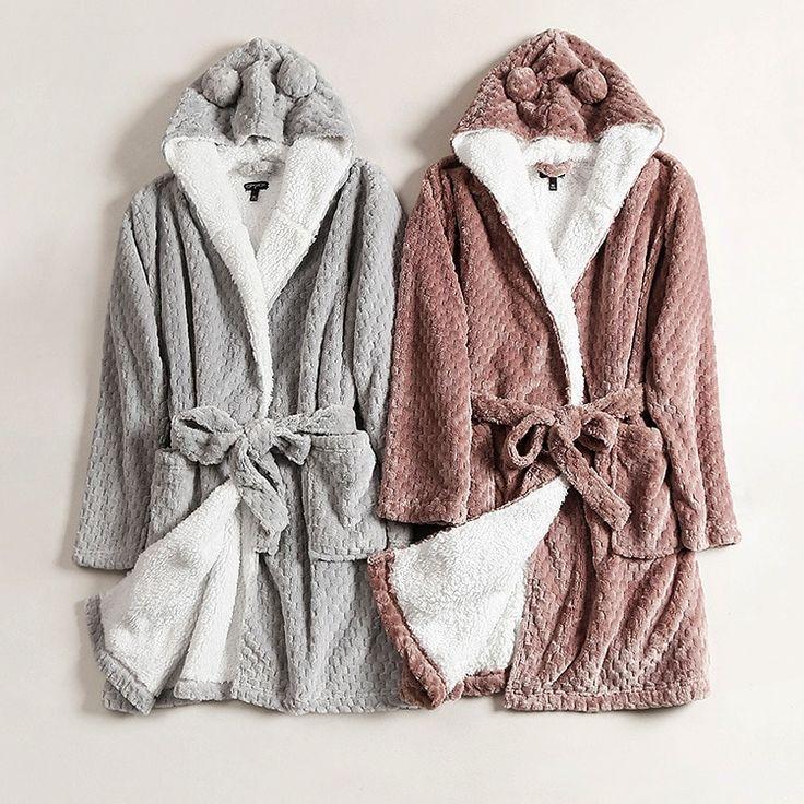 2020 的 Bath Robe Women Winter Warm Coral Fleece Women S
