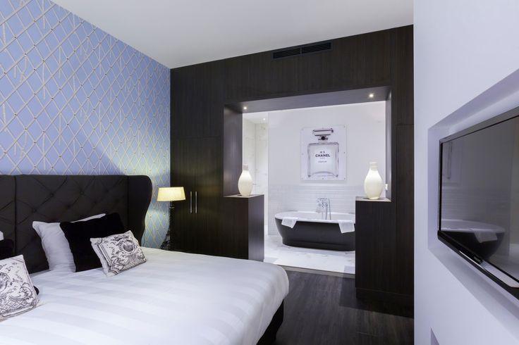 Parijs suite in hotel van der Valk Nieuwerkerk.