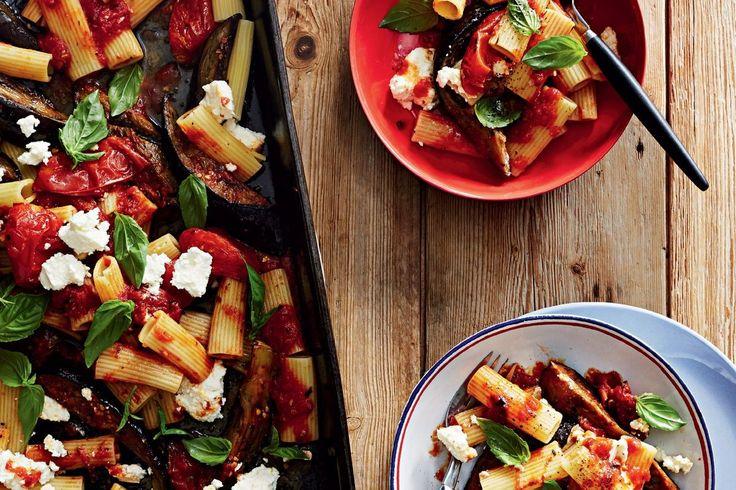 Roasted alla Norma with rigatoni - Recipes - delicious.com.au